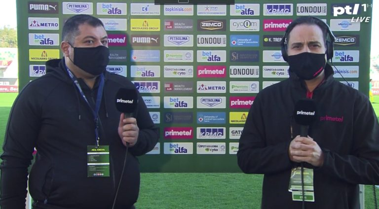 O Δημήτρης Χριστοφόρου, μίλησε στην Primetel λίγο πριν την έναρξη του αγώνα με την ΑΕΚ.
